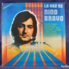 Discos de vinilo: NINO BRAVO - LA VOZ DE NINO BRAVO - LP. Lote 262685155