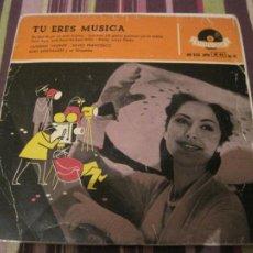 Discos de vinilo: EP CATERINA VALENTE TU ERES LA MUSICA POLYDOR 20232 SPAIN. Lote 262690500
