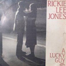 Discos de vinilo: RICKIE LEE JONES.** A LUCKY GUY * SKELETONS **. Lote 262695960