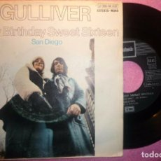"Discos de vinilo: 7"" GULLIVER - HAPPY BIRTHDAY SWEET SIXTEEN - STATESIDE 1 J 006-94.432 - SPAIN (VG+/VG++). Lote 262697045"