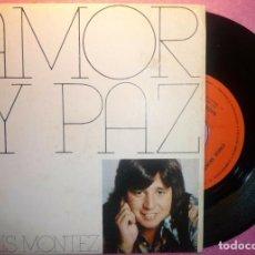 "Discos de vinilo: 7"" CHRIS MONTEZ - AMOR Y PAZ / NADIE SABIA - CBS 2320 - SPAIN PRESS - 1974 (VG++/VG++). Lote 262698810"