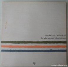 Disques de vinyle: ANGELO BRANDUARDI - BRANDUARDI CANTA YEATS (LP ARIOLA 1986 ESPAÑA). Lote 262706485