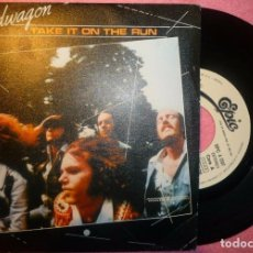 "Discos de vinilo: 7"" REO SPEEDWAGON - TAKE IT ON THE RUN - EPIC EPC A 1207 - SPAIN PRESS - PROMO (EX-/EX-). Lote 262710470"