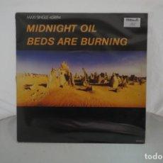 Discos de vinilo: # VINILO 12´´ - MAXI-SINGLE - MIDNIGHT OIL - BEDS ARE BURNING / CBS. Lote 262711215