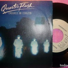 "Discos de vinilo: 7"" QUARTER FLASH - ENDURECE MI CORAZON (HARDEN MY HEART) GEF A-1838 - SPAIN PRESS (VG++/VG++). Lote 262713895"