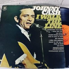 Discos de vinilo: JOHNNY CASH-LP I WALK THE LINE. Lote 262742975