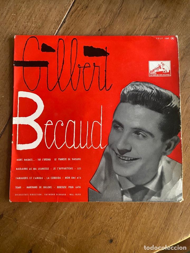 VINILO LP 33 1/3 GILBERT BECAUD 1956 (Música - Discos - LP Vinilo - Canción Francesa e Italiana)