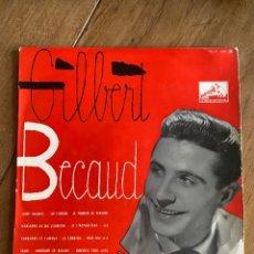 Discos de vinilo: VINILO LP 33 1/3 GILBERT BECAUD 1956. Lote 262750740