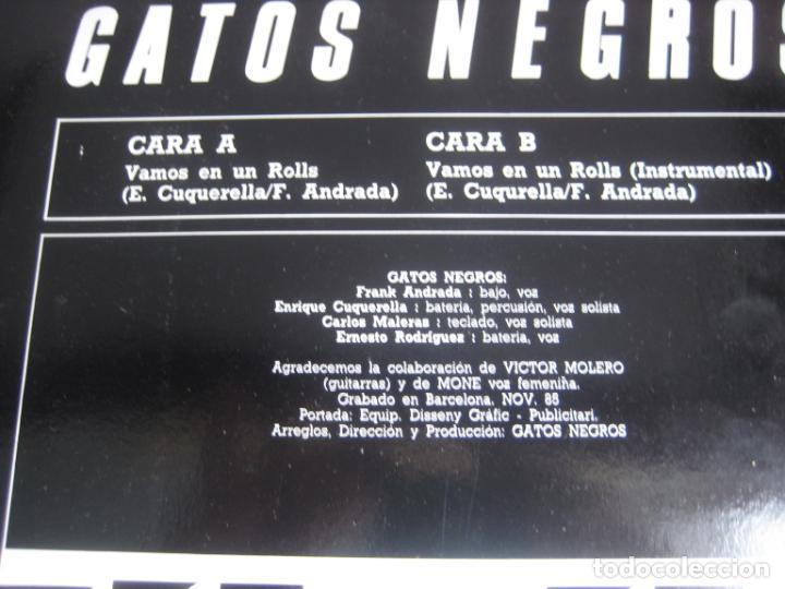Discos de vinilo: Gatos Negros – Vamos En Un Rolls - MAXI SINGLE PDI 1988 - HARD ROCK - BARCELONA BEAT GARAGE 60S - Foto 3 - 262752515