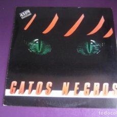 Discos de vinilo: GATOS NEGROS – VAMOS EN UN ROLLS - MAXI SINGLE PDI 1988 - HARD ROCK - BARCELONA BEAT GARAGE 60'S. Lote 262752515