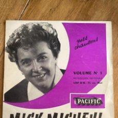 Discos de vinilo: VINILO LP 33 1/3 MICK MICHEYL - Nº1 MES CHANSONS 1953. Lote 262755105