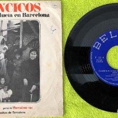 Discos de vinilo: VILLANCICOS EN LA CASA DE ANDALUCIA DE BARCELONA - SINGLE. Lote 262757120