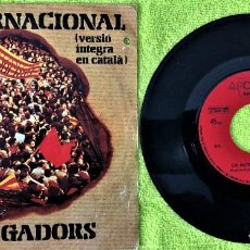 Discos de vinilo: LA INTERNACIONAL - ELS SEGADOR - EN CATALAN. Lote 262757255