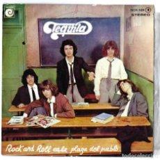 Discos de vinilo: VINILO. LP- SINGLE TEQUILA. ROCK AND ROLL... EL AHORCADO. LAS VIAS DEL FERROCARRIL. ZAFIRO. 1978. Lote 262758695