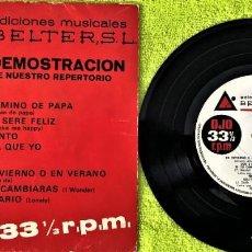 Discos de vinilo: VARIOUS - DISCO DEMOSTRACIÓN DE NUESTRO REPERTORIO - BELTER. Lote 262758870