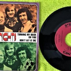 Discos de vinilo: BARRON KNIGHTS - TURNING MY BACK ON YOU / DON'T LET IT DIE. Lote 262759540