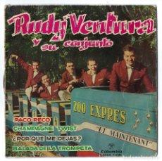Discos de vinilo: VINILO- SINGLE RUDY VENTURA Y SU CONJUNTO. PACO PECO. ET MAINTENANT. BALADA DE LA TROMPETA... 1962. Lote 262765180