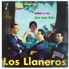 Discos de vinilo: VINILO. LP- SINGLE LOS LLANEROS. ALMA LLANERA. SABOR A MI. LUPE. QUE SEAS FELIZ. ZAFIRO- 1962. Lote 262766375