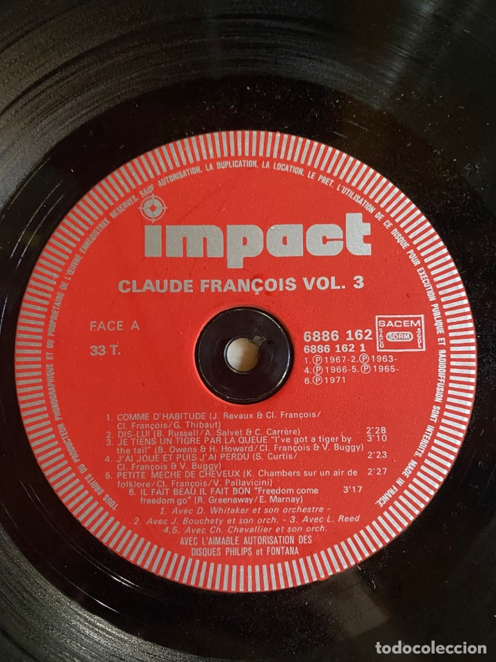 Discos de vinilo: Coffret 4 Disques Claude François- 6995 151 - Foto 8 - 262768650