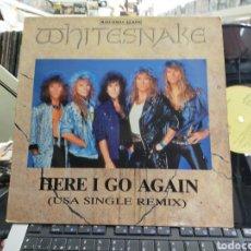 Discos de vinilo: WHITESNAKE MAXI HERE O GO AGAIN -U.S.A. REMIX- ESPAÑA 1988. Lote 262777475