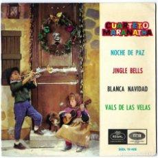 Discos de vinilo: VINILO. LP- SINGLE CUARTETO MARANATHA. NOCHE DE PAZ. JINGLE BELLS. BLANCA NAVIDAD. VALS DE LA VELAS. Lote 262779995