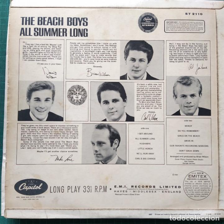 Discos de vinilo: The Beach Boys - All Summer Long (LP, Album) (1965/UK) - Foto 2 - 262787510