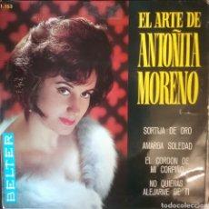 Discos de vinilo: ANTOÑITA MORENO. EP. SELLO BELTER. EDITADO EN ESPAÑA. AÑO 1965. Lote 262791800