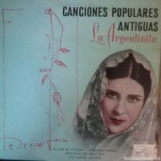 Discos de vinilo: LA ARGENTINITA. EP. SELLO LA VOZ DE SU AMO. EDITADO EN ESPAÑA. AÑO 1958. Lote 262792445