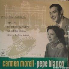 Discos de vinilo: CARMEN MORELL Y PEPE BLANCO. EP. SELLO ODEON. EDITADO EN ESPAÑA.. Lote 262794750