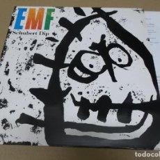 Discos de vinilo: EMF (LP) SCHUBERT DIP AÑO 1991 – ENCARTE CON LETRAS. Lote 262811495