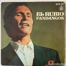 Discos de vinilo: EL RUBIO - FANDANGOS. Lote 262815220