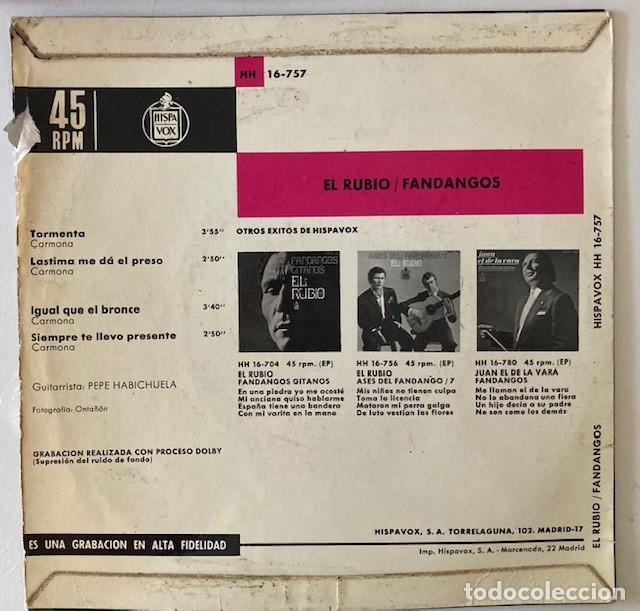 Discos de vinilo: EL RUBIO - FANDANGOS - Foto 2 - 262815220