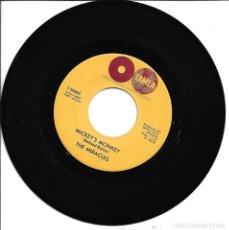 Discos de vinilo: THE MIRACLES - WHATEVER MAKES YOU HAPPY + MICKEY'S MONKEY SINGLE USA 1963 SIN PORTADA. Lote 262819095
