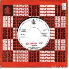 Dischi in vinile: RAPHAEL - LOS AMANTES + CALLA SINGLE PROMO SPAIN 1971 SIN PORTADA. Lote 262821980
