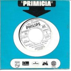 Discos de vinilo: NUEVO MESTER DE JUGLARIA - CANTO DEL HONOR + MOLONDRON SINGLE PROMO 1972 SIN PORTADA. Lote 262822030