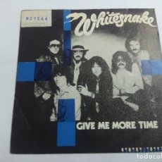 Discos de vinilo: WHITESNAKE/GIVE ME MORE TIME/SINGLE.. Lote 262847715