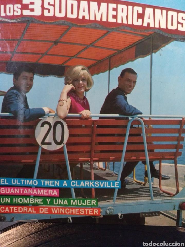 LOS 3 SUDAMERICANOS.** EL ÚLTIMO TREN A ...* GUANTANAMERA * UN HOMBRE Y UNA MUJER * CATEDRAL DE...** (Música - Discos de Vinilo - EPs - Grupos Españoles 50 y 60)