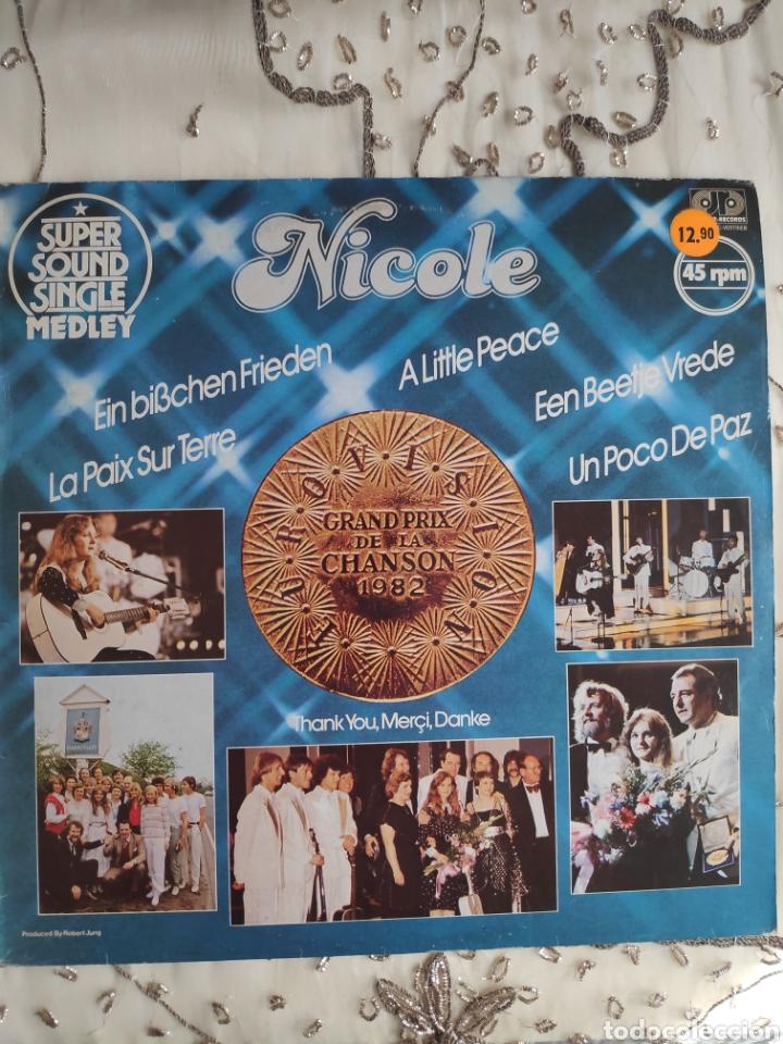 VINILO MAXI 12 EUROVISION - NICOLE - UN POCO DE PAZ - ESPAÑOL, ALEMÁN, FRANCÉS, INGLÉS, HOLANDÉS (Música - Discos de Vinilo - Maxi Singles - Festival de Eurovisión)