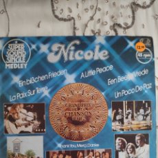 Discos de vinilo: VINILO MAXI 12 EUROVISION - NICOLE - UN POCO DE PAZ - ESPAÑOL, ALEMÁN, FRANCÉS, INGLÉS, HOLANDÉS. Lote 262854385