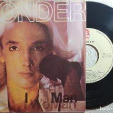"Discos de vinilo: 7"" WONDER - I WOMAN / I MAN - ZAFIRO OOX-390 - SPAIN PRESS - 1979 (VG+/VG++). Lote 262856400"