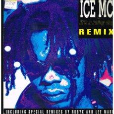 Discos de vinilo: ICE MC - IT'S A RAINY DAY (REMIX) - MAXI SINGLE 1994 - ED. ITALIA. Lote 278184818