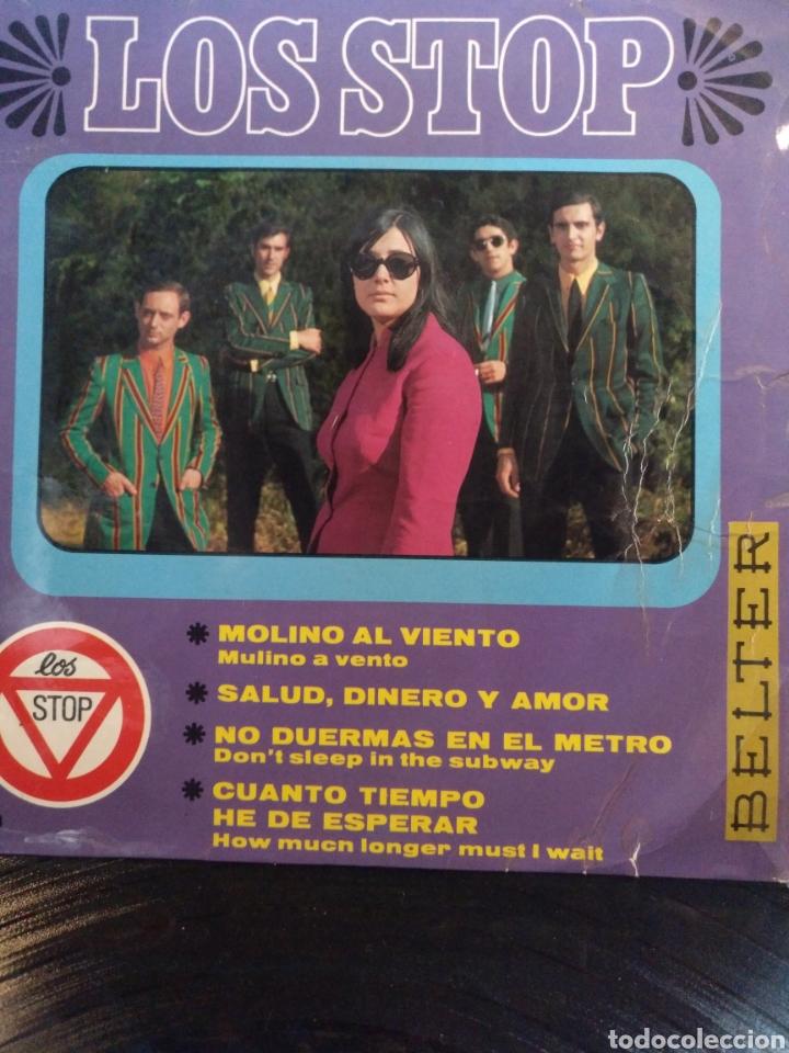 LOS STOP.** MULINO A VENTO * SALUD DINERO Y AMOR * DON'T SLEEP IN THE SUBWAY * HOW MUCH LONGER...** (Música - Discos de Vinilo - EPs - Grupos Españoles 50 y 60)