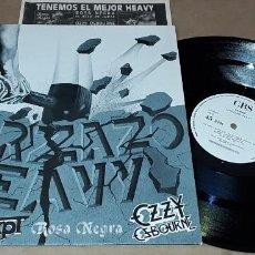 """Discos de vinilo: 12"""" - MARZAZO HEAVY - PROMO + HOJAS PROMOCIONALES - ROSA NEGRA, OZZY OSBOURNE, FASTWAY, ACCEPT. Lote 262885645"""