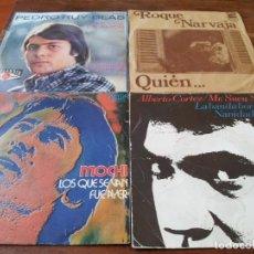Discos de vinilo: VARIOS - CANTAUTORES ESPAÑOLES - LOTE 10 SINGLES ORIGINALES - VER FOTOS,. Lote 262890170