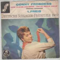 Discos de vinilo: 45 GIRI CONNIE FROBOESS ZWEI KLEINE ITALIENER DEUTSCHE SCLAGER FEST SPIELE 1962VG-VG- COLUMBIA GER. Lote 262900155