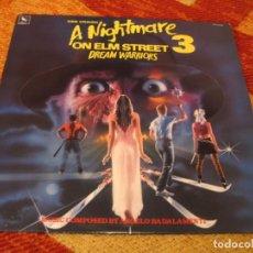 Disques de vinyle: NIGHTMARE ON ELM STREET 3 DREAM WARRIORS PESADILLA FREDDY KRUEGER LP ORIGINAL USA 1987. Lote 262910005