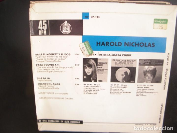Discos de vinilo: HAROLD NICHOLAS- BAILE EL MONKEY Y EL DOG. EP - Foto 2 - 262912715