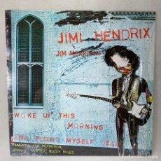 Discos de vinilo: LP - VINILO JIMI HENDRIX / JIM MORRISON- WOKE UP THIS MORNING AND FOUND MYSELF DEAD - CANADA - 1980. Lote 262914030