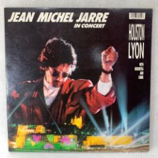 Discos de vinilo: LP - VINILO JEAN MICHEL JARRE - IN CONCERT / HOUSTON-LYON - DOBLE PORTADA + ENCARTE - UK - AÑO 1987. Lote 262919695