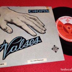 Discos de vinilo: LIVIA REV PIANO CHOPIN VALSES EP 7'' 195? TELEFUNKEN ESPAÑA SPAIN. Lote 262920435